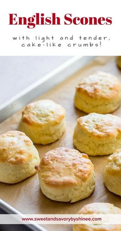 English Scones with Sweet Whipped Butter ~Sweet & Savory by Shinee English scones with light and tender, cake-like crumbs is incredibly quick and easy to make. You only need 30 minutes of your day! It's our family's favorite! via Sweet & Savory by Shinee Baking Recipes, Cake Recipes, Dessert Recipes, British Scones, How To Make Scones, Making Scones, Savory Scones, Lemon Scones, Cream Scones
