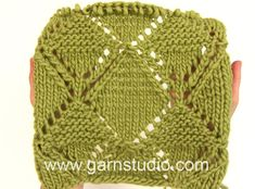 DROPS Knitting Tutorial: How to work a beautiful lace pattern after char...