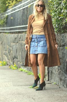 me Denim Skirt, Skirts, Outfits, Fashion, Outfit, Moda, La Mode, Jean Skirt, Skirt