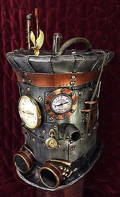 Steampunk Hat Power Armor Elite #2 Cosplay Tesla Victorian ...