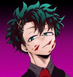 Izuku Midoriya - My Hero Academia \ ^^ / Boku No Hero Academia, My Hero Academia Memes, Hero Academia Characters, My Hero Academia Manga, Anime Characters, Villain Deku, The Villain, Yandere, Anime Guys