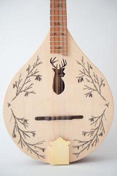 Stag/deer head mandolin