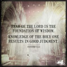 Fear the Lord