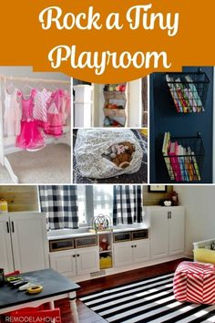 Even if your playroom is small or is part of another room, like an office or guest room, you can still make a playroom that ROCKS! These easy organizing and toy storage ideas will make it work for you. #spon