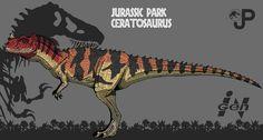 Jurassic Park: Ceratosaurus( new art) by Hellraptor on DeviantArt