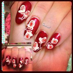 #nails #nailart Winter nails!!:-)