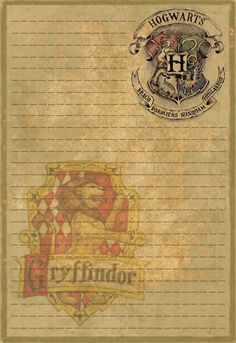 Gryffindor Stationery Option1 by Sinome-Rae