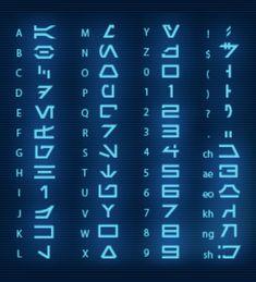 Star Wars Alphabet Decoded - Rebels Star Wars - Ideas of Rebels Star Wars - Star Wars Alphabet Alphabet Code, Alphabet Symbols, Alphabet Writing, Ancient Alphabets, Ancient Symbols, How To Write Neater, Different Alphabets, Schrift Design, Writing Styles