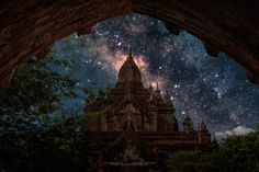 I dream to this place to have the milky way. This picture was made from 2 different pictures. One is a pagoda in Bagan, and an other one is the milky way from Thailand.