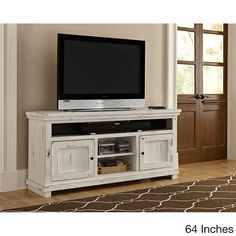 Willow Distressed White Entertainment Collection