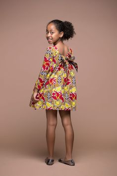 Nata Kid's Dress | African Clothing For Children | Grass-fields