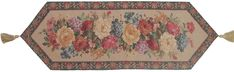 DaDa Bedding Breath of Spring Floral Beige Tan Brown Hand-Crafted Decorative Woven Place Mat Table Runners Cloths (3089)