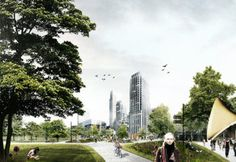DELVA Landscape Architects / Urbanism presents the plan for 'The Green Entrance' of The Hague, as part of the program | Read More