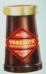 Very Old Vintage Vegemite Jar Red Label White Printing No