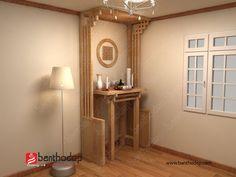 KG 04 | Bàn Thờ Đẹp Pooja Room Door Design, Room Design Bedroom, Temple Design For Home, Muji Home, Altar Design, Hall Interior Design, Ethnic Decor, Puja Room, Cabinet Design