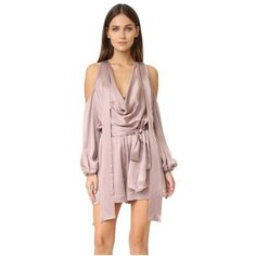 051dd8facb17 Sueded billow playsuit by Zimmermann. Cutouts reveal the shoulders on this  luxurious