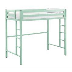 Twin Metal Loft Bed - Mint | Overstock.com Shopping - The Best Deals on Kids' Beds