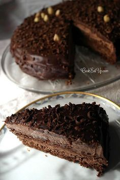 Death By Chocolate, Chocolate Sweets, Party Desserts, Dessert Recipes, Fun Recipes, Greek Cake, Greek Sweets, Types Of Cakes, Pastry Cake