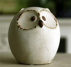 lol....   Wholesale Plump Owl Ceramic Figurine Home Decor - DinoDirect.com