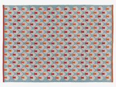 OCTO BLUES Cotton Medium blue patterned rug 140 x 200cm - HabitatUK