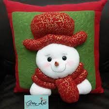 Resultado de imagen para adornos navideños para muebles de sala Christmas Sewing, Cushions, Pillows, Christmas Ornaments, Holiday Decor, Red, Home Decor, Ideas, Throw Pillows