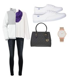 """Casual-Cold Winter Day at the mall"" by ektellie on Polyvore featuring Frame Denim, Mixit, The North Face, Michael Kors and Larsson & Jennings"