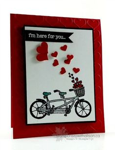 Pedal pushers stamp set Sale-a-bration Happy Heart Embossing Folder www.stampcrazywithalison.ca