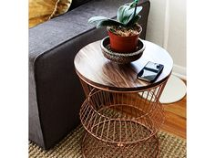 Walnut Wire Side Table — FURNISHINGS -- Better Living Through Design