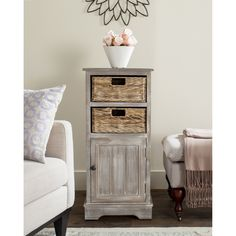 Easygoing casual charm characterizes this pretty but hardworking winter melody storage cabinet, a stylish addition to any space in need of organization.