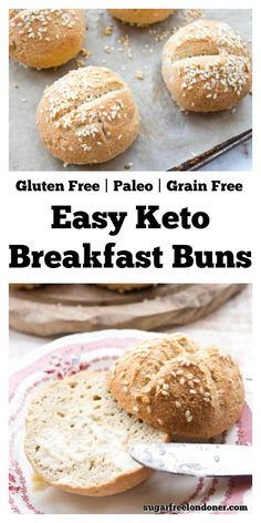 If you love bread but not the carbs, these fabulous keto and low carb rolls are for you! Made with almond flour and eggs, these are the best low carb and grain-free bread suitable Keto Burger Buns … Best Keto Bread, Low Carb Bread, Low Carb Keto, Paleo Bread Recipe Easy, Carb Free Bread, Low Carb Bun, Dairy Free Low Carb, Recipe Tasty, Keto Fat