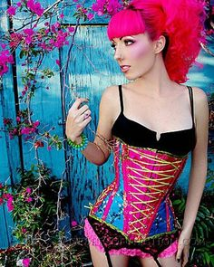 cfb8735194 This corset makes me happy. I would dye my hair that color to go with