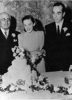 Bolo do casamento de Judy Garland and Vincente Minnelli