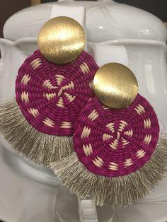 Black Earrings, Simple Earrings, Beaded Earrings, Earrings Handmade, Paper Jewelry, Polymer Clay Earrings, Wicker, Jewelery, Fashion Jewelry