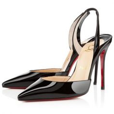 920a14fa4758 Christian Louboutin Ever Slingbacks Black - Cheap Christian Louboutin Outlet
