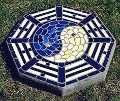 yin yang mosaic patterns