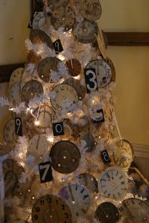 Great New Year's tree...so that you don't have to take your Christmas tree down so fast...just change some of the orname ts