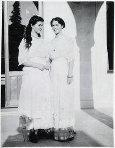 Grand Duchesses Marie and Olga Romanova.