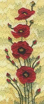 Field Poppies Long Stitch LSFP/L - NEW SIZE