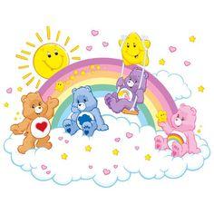 Care Bears Cloud Wall Sticker East Urban Home Size: 75 cm H x 100 cm W Care Bears, Care Bear Party, Care Bear Birthday, Care Bear Tattoos, Bear Wallpaper, Wallpaper Roller, Cute Clipart, Little Pony, Cute Wallpapers