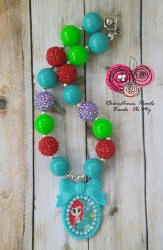 Little Mermaid Birthday Outfit, Ariel Necklace, LIttle Mermaid Birthday, Little Mermaid Party, Little Mermaid Party, Princess Jewelry