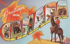 vintage canadian postcard - Google Search
