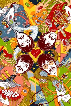Sgt. Peppers Lonely Hearts Club Band by Julia Minamata. #art #artwork #thebeatles http://www.pinterest.com/TheHitman14/musician-drawn-%2B/