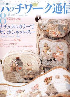 Patchwork Quilt Tsushin 139 - rosotali roso - Álbuns da web do Picasa Japanese Patchwork, Patchwork Bags, Quilted Bag, Patchwork Quilting, Craft Patterns, Quilt Patterns, Sue Sunbonnet, Handmade Crafts, Diy Crafts