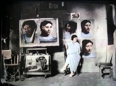 Picasso's studio with wife and muse Olga Khokhlova.