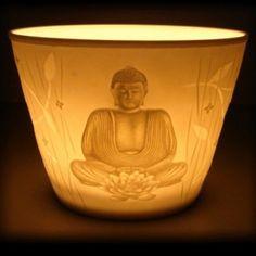 Reiki | Johan | Leeuwarden | reikipraktijk-kinyoubi.nl | Votieflicht porselein 'Boeddha' |
