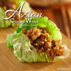 Asian Chicken Wraps in Lettuce Leaves are one of my favorite low carb lunches!  #asian #chicken #wraps #recipe