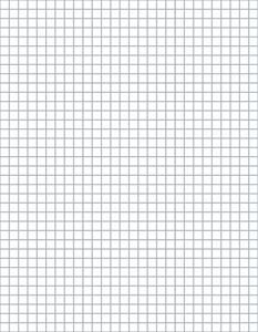 Download Our Free Crochet Graph Paper at Crochet.About.com -- 4 Stitches and 4 Rows Per Inch - Graph Paper © Amy Solovay, Licensed to About.com, Inc.
