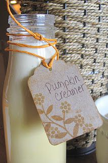 Homemade Pumpkin Spice Coffee Creamer.