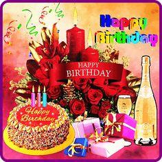 happy birthday wishes Birthday Cake Gif, Happy Birthday Sms, Happy Birthday Frame, Happy Birthday Wishes Cards, Birthday Pins, Birthday Frames, Happy Birthday Pictures, Birthday Cards, Happy B Day