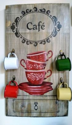 Decoupage, Stencils, Mugs, Elo 7, Shabby, Tableware, Crafts, Decorated Boxes, Wooden Crafts